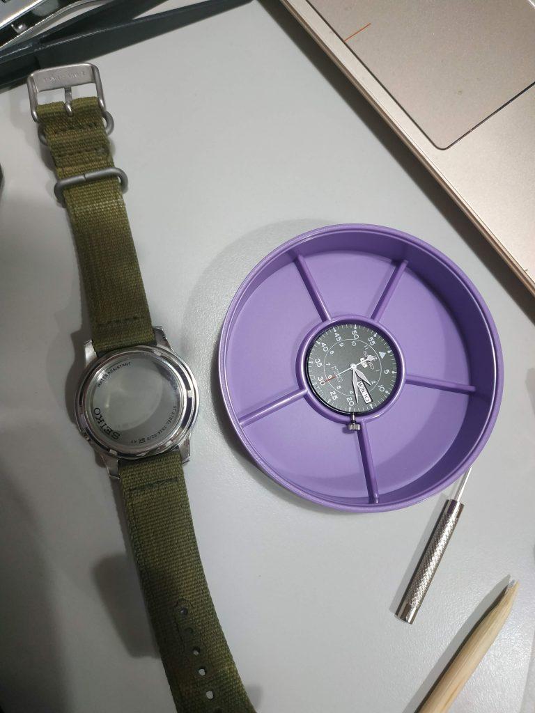 Seiko 精工5號 刮傷 藍寶石 換鏡片
